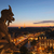 hölgy · néz · naplemente · Párizs · égbolt · templom - stock fotó © hsfelix