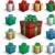 karácsony · szett · ajándékdobozok · izolált · zöld · elegáns - stock fotó © hugolacasse