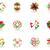 soyut · renkli · şablon · vektör · dizayn - stok fotoğraf © huhulin