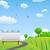 publicidade · quadro · de · avisos · estrada · rural · verde · hills - foto stock © huhulin