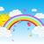 вектора · радуга · облака · небе · символ · воды - Сток-фото © huhulin