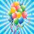 gelukkige · verjaardag · kaart · ingesteld · ballonnen · confetti · illustratie - stockfoto © huhulin