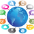 social media concept communication globe stock photo © huhulin