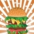 hamburger · achtergrond · restaurant · vet · tomaat · tekening - stockfoto © huhulin