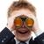 笑みを浮かべて · ビジネスマン · 双眼鏡 · 白 · 男 · スーツ - ストックフォト © ia_64