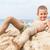 を実行して · ビーチ · 笑みを浮かべて · 子 · 海 - ストックフォト © ia_64