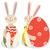 kettő · húsvét · nyulak · nyúl · tavasz · boldog - stock fotó © iaRada