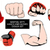 mma or boxing red gloves hand design element set stock photo © iaroslava