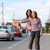 girls hitch hiking stock photo © icefront