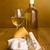 ワインボトル · ブルーチーズ · 白ワイン · 孤立した · 白 · 食品 - ストックフォト © icefront