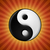 yin yang symbol on red rays background stock photo © icefront