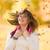 objętych · pozostawia · dziewczyna · dość · młoda · kobieta · śmiechem - zdjęcia stock © icefront