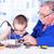 деда · преподавания · внук · рабочих · пайка · железной - Сток-фото © icefront