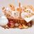 appel · cake · glas · melk · Blauw · voedsel - stockfoto © icefront
