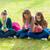 üç · kızlar · sonbahar · park · açık · atış - stok fotoğraf © icefront