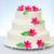 bruidstaart · witte · roze · marsepein · bloem · decoratie - stockfoto © icefront