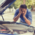 homem · carro · quebrado · olhando · fracassado · motor - foto stock © ichiosea