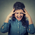 retrato · frustrado · jóvenes · gritando · mujer - foto stock © ichiosea