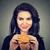 gyönyörű · modell · hamburger · nők · boldog · divat - stock fotó © ichiosea