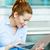 mujer · de · trabajo · ordenador · Internet · negocios · tecnología - foto stock © ichiosea