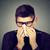 fiatalember · hideg · takarítás · orr · papírzsebkendő · papír - stock fotó © ichiosea