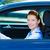 auto · vrouw · jonge · vrouw · tonen · teken - stockfoto © ichiosea