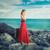 gyönyörű · nő · utazó · tengerpart · bőrönd · beszél · mobiltelefon - stock fotó © ichiosea