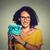 tasarruf · gözlük · gözlük · kadın · mutlu · heyecanlı - stok fotoğraf © ichiosea