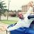 człowiek · znajomych · posiedzenia · samochodu · okno · kobieta - zdjęcia stock © ichiosea