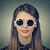 ritratto · moda · occhiali · da · sole · isolato · nero - foto d'archivio © ichiosea