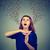 frustré · colère · femme · hurlant · sur · fort - photo stock © ichiosea