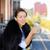 mulher · jovem · leitura · livro · relaxante - foto stock © ichiosea
