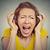 ritratto · arrabbiato · donna · grigio · negative · emozione - foto d'archivio © ichiosea