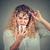 若い女性 · 眼鏡 · 携帯電話 · ビジョン · 問題 - ストックフォト © ichiosea