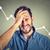 frustré · jeune · homme · désespérée · financière · marché - photo stock © ichiosea