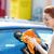 gülümseyen · kadın · temizlik · pencereler · gülen · siyah · kadın · cam - stok fotoğraf © ichiosea