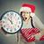 estrés · mujer · de · negocios · ejecutando · tarde · reloj · brazo - foto stock © ichiosea
