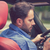 man using cell phone texting while driving reckless driver stock photo © ichiosea