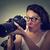 fotografo · immagini · isolato · donna - foto d'archivio © ichiosea