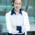 portrait · jeunes · heureux · réussi · femme · d'affaires - photo stock © ichiosea