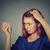 üzgün · kadın · şaşırmış · saç - stok fotoğraf © ichiosea