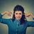 donna · dita · orecchie · foto · stress · testa - foto d'archivio © ichiosea