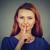 silêncio · mulher · dedo · lábios · mulheres - foto stock © ichiosea