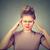 悲しい · 若い女性 · 顔 · 頭痛 - ストックフォト © ichiosea