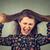 öfkeli · genç · kadın · saç · dışarı - stok fotoğraf © ichiosea
