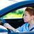 sonolento · mulher · condução · carro · longo · hora - foto stock © ichiosea