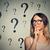 思考 · 女性 · 疑問符 · グレー · 壁 · 眼鏡 - ストックフォト © ichiosea