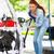 jeune · femme · lavage · voiture · photos · portrait · jeunes - photo stock © ichiosea