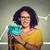 очки · очки · женщину · счастливым · возбужденный - Сток-фото © ichiosea