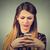 lány · telefon · otthon · nők · technológia · szépség - stock fotó © ichiosea